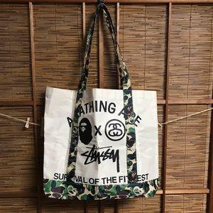 Stussy Bags - Rare Stussy BAPE Japan only tote bag camo